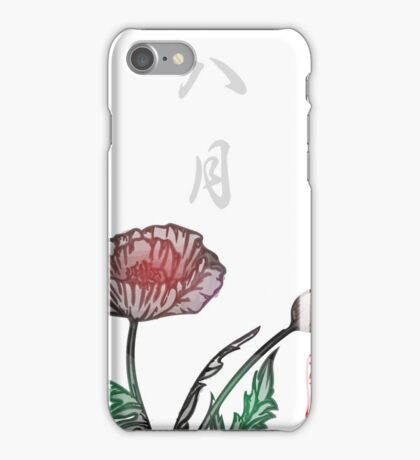 Inked Petals of a Year August iPhone Case/Skin