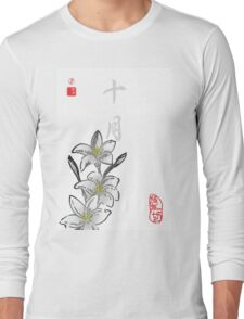 Inked Petals of a Year October Long Sleeve T-Shirt