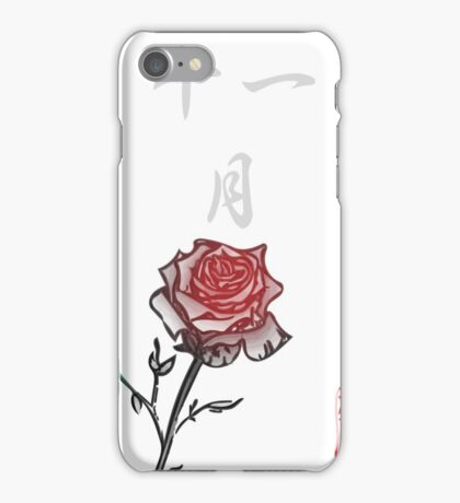 Inked Petals of a Year November iPhone Case/Skin