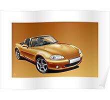 Poster artwork - Mazda MX-5 (Eunos, Miata) mk2  Poster