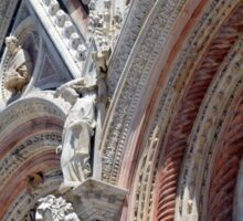 Detail of cathedral from Siena with stone decorations Sticker