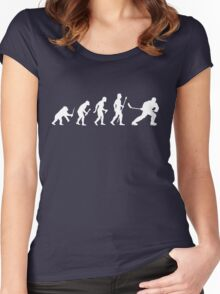 Ice Hockey Evolution Women's Fitted Scoop T-Shirt