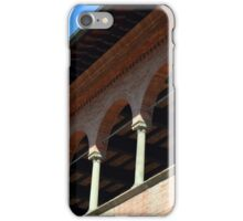 Simple brick facade from Siena with columns and arches. iPhone Case/Skin
