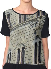 Building from Siena with decorative windows. Chiffon Top