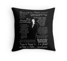 Giles in his own words - white Throw Pillow