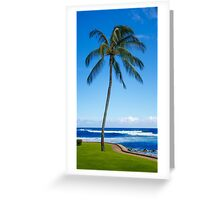 Palm trees by the ocean  Greeting Card