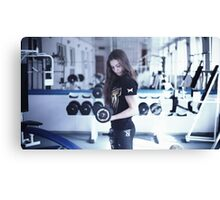 girl in the gym Canvas Print