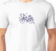 Bicycle and Floral Ornament 4 Unisex T-Shirt