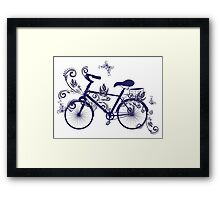Bicycle and Floral Ornament 4 Framed Print