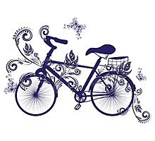 Bicycle and Floral Ornament 4 Photographic Print
