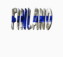 Finland Word With Flag Texture Unisex T-Shirt