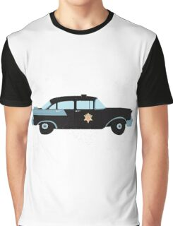 Police retro car Graphic T-Shirt