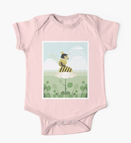 Queen bee resting on a flower One Piece - Short Sleeve