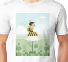 Queen bee resting on a flower Unisex T-Shirt