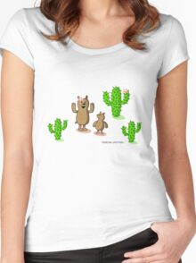 cactus bear Women's Fitted Scoop T-Shirt