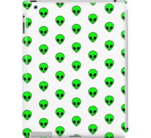 Cute Funny Cool Green Outer Space Alien Pattern  iPad Case/Skin