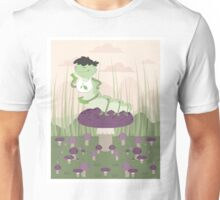 Inchworm eating up a mushroom Unisex T-Shirt