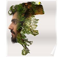 man face double exposure  Poster