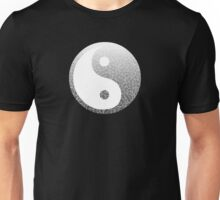 Ombre black and white swirls doodles Unisex T-Shirt