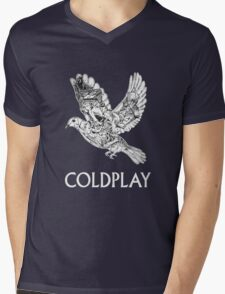 coldplay burung Mens V-Neck T-Shirt