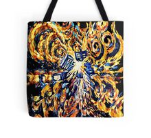 Big Bang Attack Exploded Flamed Phone booth painting Tote Bag