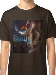 Witch with cat Classic T-Shirt