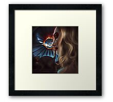 Witch with cat Framed Print
