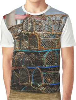 Lobster Pots - British Coast And Beach  Graphic T-Shirt