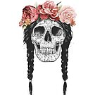 Skull with floral crown by soltib