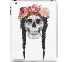 Skull with floral crown iPad Case/Skin