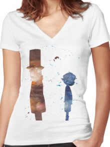 Room For Thought- a Professor Layton Tribute Women's Fitted V-Neck T-Shirt