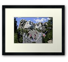 Presidents Rock Framed Print