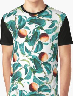 Fruit and Leaf Pattern Graphic T-Shirt