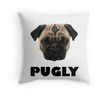 PUGLY Pillow - Snuggle Your Pug Throw Pillow