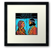 The Royal Tenenbaums Margot and Ritchie Framed Print