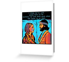 The Royal Tenenbaums Margot and Ritchie Greeting Card