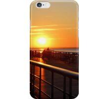 Sunset on the Sunken Meadow Boardwalk iPhone Case/Skin