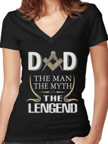 Dad - The man - The myth - The legend Women's Fitted V-Neck T-Shirt