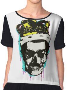 skull and crown Chiffon Top