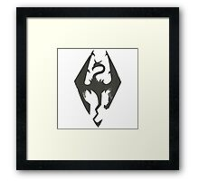 Iron Dragon Grunge Framed Print