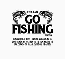 Jesus Said Go Fishing Women's Fitted Scoop T-Shirt