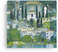 Church in Cassone by Gustav Klimt Canvas Print