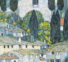 Church in Cassone by Gustav Klimt Sticker