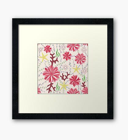 marine flowers Framed Print