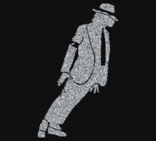 pop king legend dancing silver glitter silhouette art Baby Tee