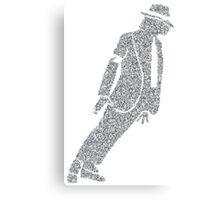 pop king legend dancing silver glitter silhouette art Canvas Print
