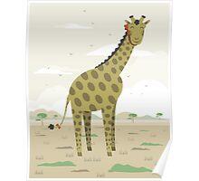 Giraffe in the savanna  Poster