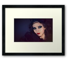 Beautiful Girl in the Gothic style Framed Print