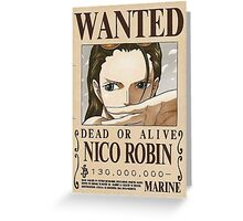 NEW WORLD NICO ROBIN WANTED POSTER Greeting Card