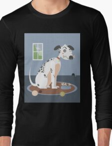 Dog with a bone in his mouth Long Sleeve T-Shirt